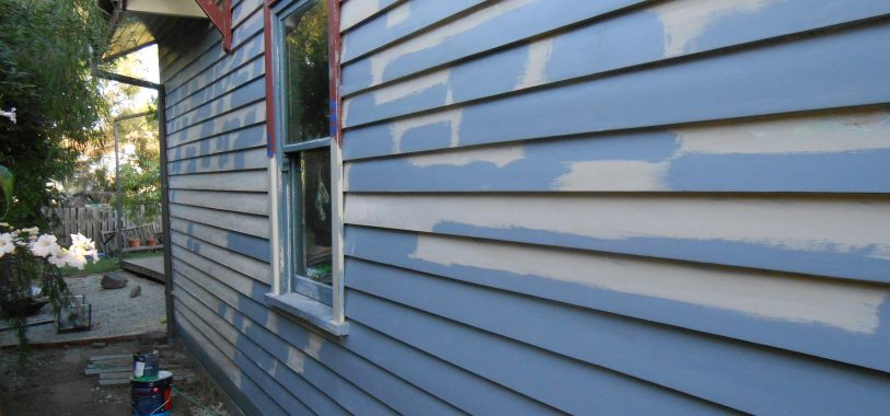 Undercoated Weatherboard Wall in Alphington