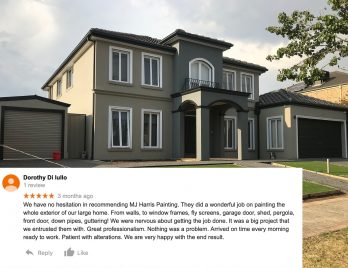 5 star review Caroline Springs job MJ Harris Painting