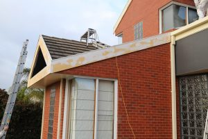 Exterior preparation before painting a Watsonia home