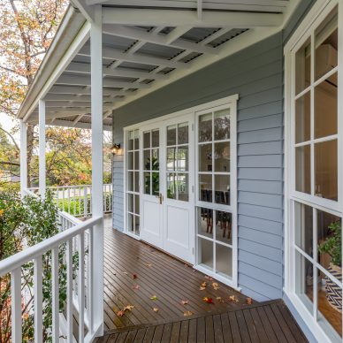 Image of a weatherboard house painted